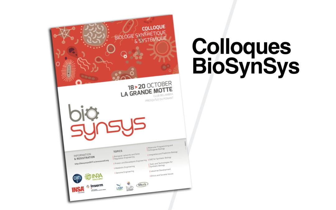 Colloques scientifiques BioSynSys